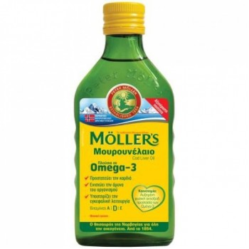 Moller's Μουρουνέλαιο Cod Liver Oil Φυσική Γεύση 250ml