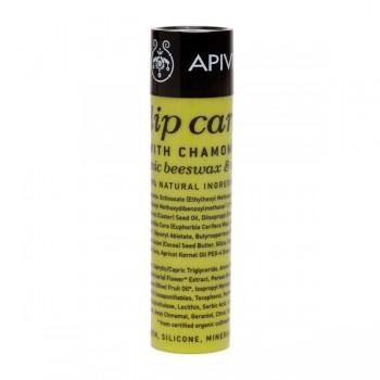 Apivita Lip care with Chamomile SPF15, 4,4gr : Στικ Περιποίησης με Χαμομήλι για ξηρά & σκασμένα χείλη