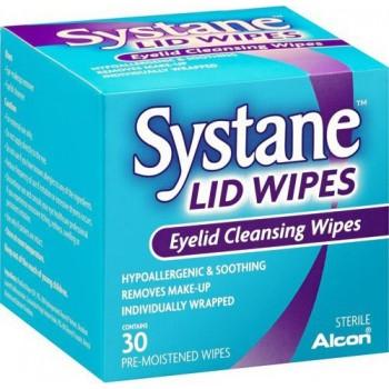 Alcon Systane Lid Wipes Μαντηλάκια Καθαρισμού των Βλεφάρων 30τμχ