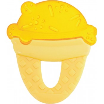 Chicco Δροσιστικός Κρίκος Οδοντοφυΐας Παγωτό Κίτρινο 4m+ 1τμχ