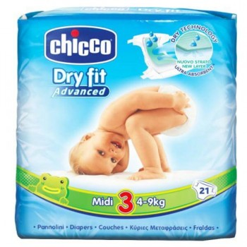 Chicco Πάνες Dry Fit Ν3 Midi (4-9kg) 21 τεμ.