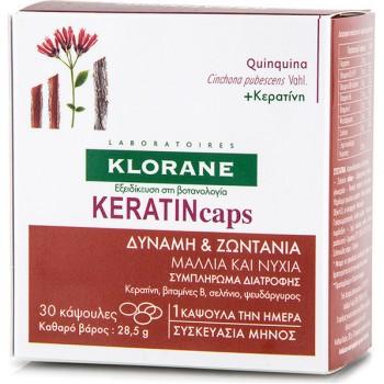 Klorane Quinine KERATINcaps 30 κάψουλες