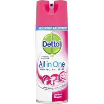Dettol All In One Orchard Blossom Απολυμαντικό Spray 400ml