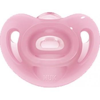 Nuk Sensitive Σιλικόνης Ροζ 0-6m 1τμχ