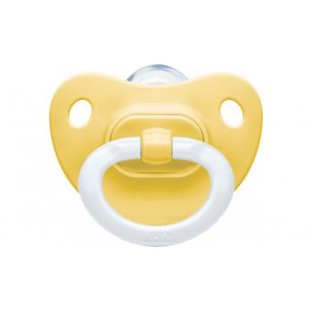 Nuk Fashion Σιλικόνης Κίτρινη 0-6m 1τμχ