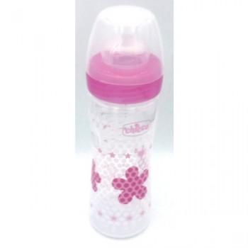 Chicco Well Being Μπιμπερό Πλαστικό Ροζ, Θηλή Σιλικόνης 2m+, 250ml