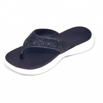 Save your feet Γυναικεία αντομική παντόφλα Μαύρη