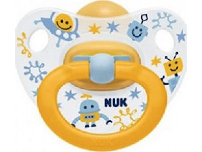 Nuk Classic Happy Kids Καουτσούκ 0-6m Ρομπότ 1τμχ