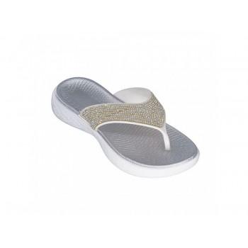 Save your feet Γυναικεία αντομική παντόφλα Ασημί