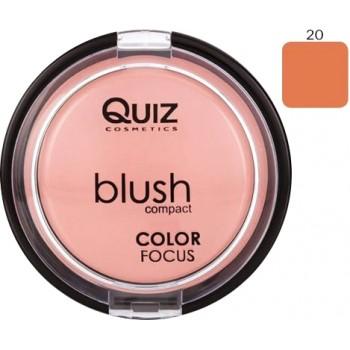 Quiz Blush Compact Color Focus  N20 12gr