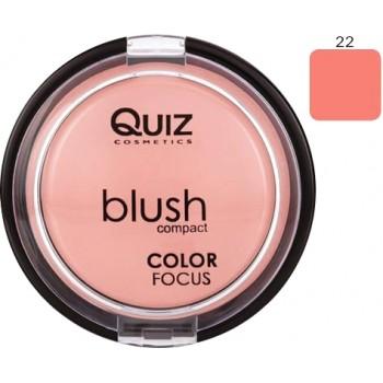 Quiz Blush Compact Color Focus  N22 12gr