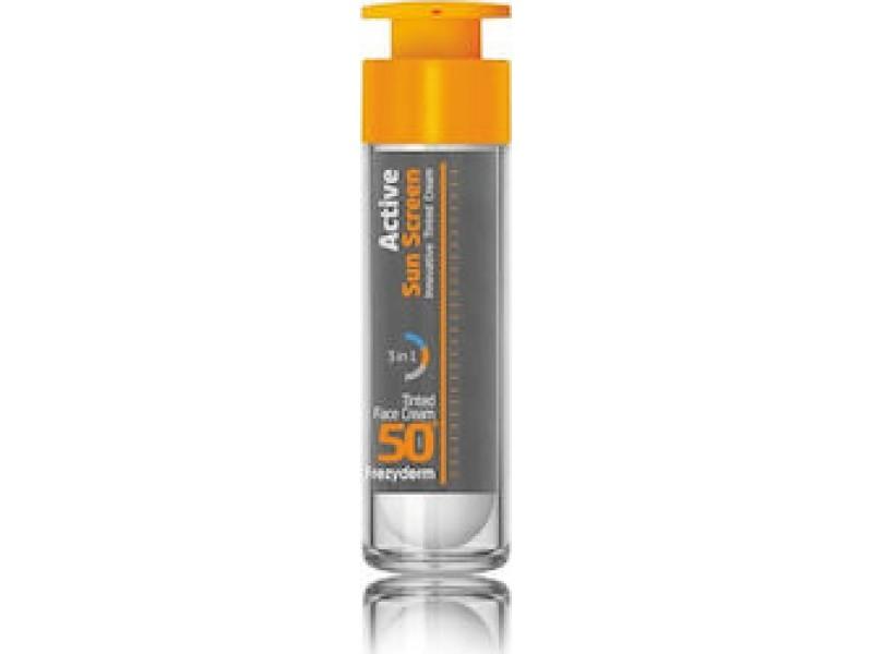 Frezyderm Active Sun Screen Innovative Black Tinted Face Cream SPF50+ 50ml