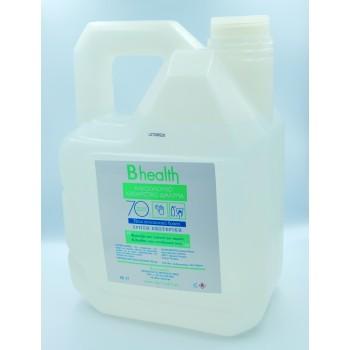 B Health Υγρό Αλκοολούχος Καθαριστικό Διάλυμα 70% Επιφανειών-Χεριών 4 Λίτρων