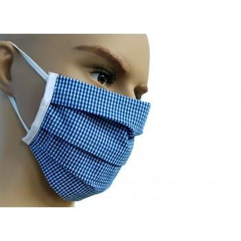 Μάσκα Προσώπου Υφασμάτινη Πλενόμενη Πολλαπλών Χρήσεων Μπλε Σκούρο 1τμχ