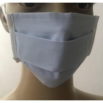 Παιδική Μάσκα Προσώπου Υφασμάτινη Πλενόμενη Πολλαπλών Χρήσεων Γαλάζιο 1τμχ