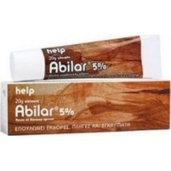 Abilar 5% Επουλώνει Εκδορές-Πληγές & Εγκαύματα 20gr