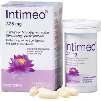 Frezyderm Intimeo Συμπλήρωμα Διατροφής με Ζώντα Στελέχοι Γαλακτοβακίλλων 325mg 14 κάψουλες
