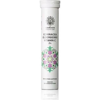 Garden Echinacea, Elderberry, Vitamin C, Zn 20 αναβράζοντα δισκία Φρούτα του Δάσους