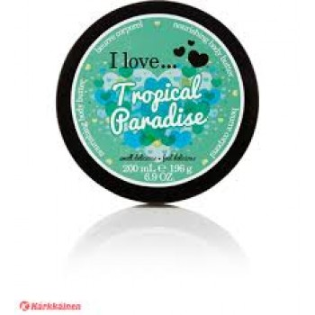 I Love Body Butter Tropical Paradise Πλούσια κρέμα σώματος με άρωμα ανανά και εξωτικών λουλουδιών 200ml