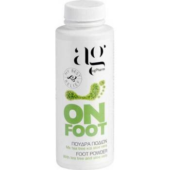 Αg Pharm On Foot Powder Πούδρα Ποδιών με Tea Tree & Aloe Vera 100ml