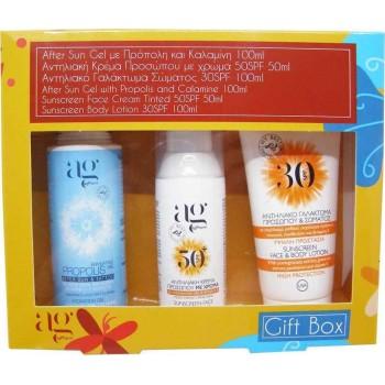 Ag Pharm Summer Set Face Sunscreen color 50ml, After Sun 100ml & Sunscreen Face & Body Milk 100ml