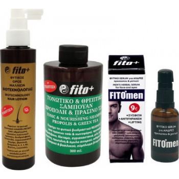 Fito+ Φυτικός Ορός Μαλλιών 170ml & Τονωτικό Σαμπουάν 300ml& Δώρο Φυτικό Serum για Άνδρες 30ml