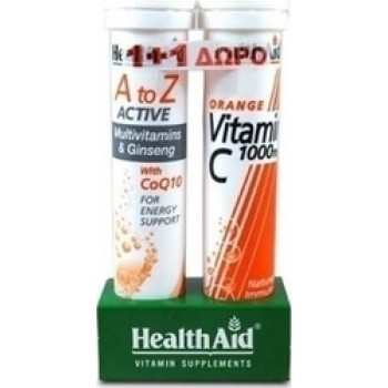 Health Aid A to Z Active + Vitamin C 1000mg 20+ 20αναβράζοντα δισκία