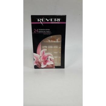 Reveri 24 Τεχνητά Νύχια Σχέδιο Γαλλικό Νο1