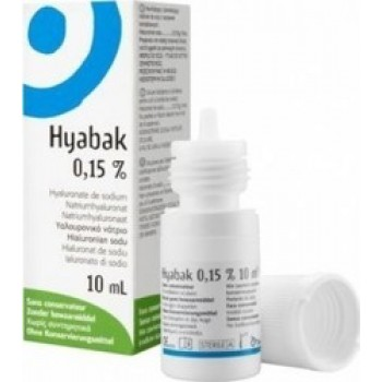 Hyabak 0.15% Οφθαλμικές Σταγόνες 10ml