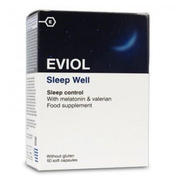 Eviol Sleep Well Συμπλήρωμα Διατροφής για τη Ρύθμιση του Ύπνου 60 Κάψουλες