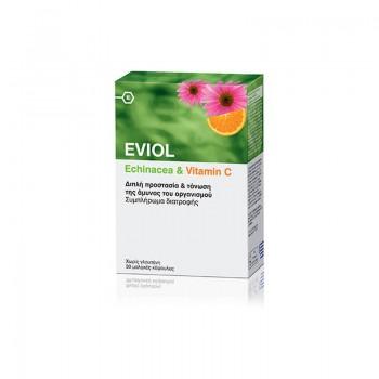 Eviol Echinacea & Vitamin C Συμπλήρωμα Διατροφής με Εχινάκεια & Βιταμίνη C, 30 caps