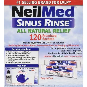 Nasal Rinse Refill Kit Neilmed® Sinus Rinse 120 per Box