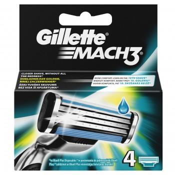 Gillette Mach 3 Ανταλλακτικά 4Τμχ