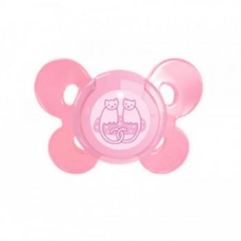 Chicco Πιπίλα Physio Comfort Ροζ Σιλικόνης Με Θήκη 4m+ 1τμχ