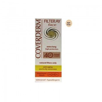 Coverderm Filteray Face Extra Long Cream Tinted Light Beige SPF40 50ml