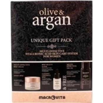 Macrovita Πακέτο Προσφοράς Olive & Argan Multi-Effective HYA Cream 50ml Beauty Elixir HYA 15ml Δώρο Multi Effective Dry Oil 75ml