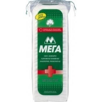 MEGA Καθαρό βαμβάκι ποιότητας κατάλληλο για παιδιά, 100γρ