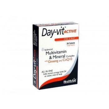 Health Aid Day Vit Active Βιταμίνες με Συνένζυμο Q10 & Τζίνσεγκ 30tabs