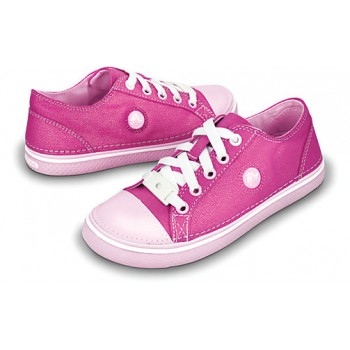 Crocs – Hover Sneak Girls Metallic Fuchsia-Bubblegum