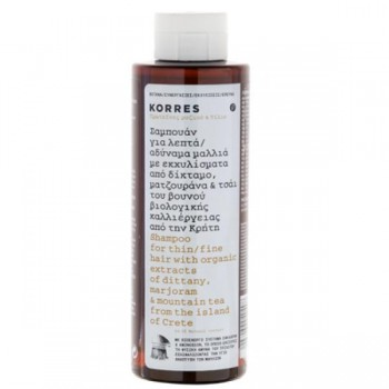 Korres Σαμπουάν Πρωτείνες Ρυζιού & Τίλιο Για Λεπτά Αδύναμα Μαλλιά 250ml