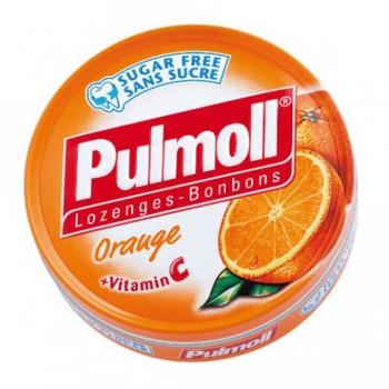 Pulmoll Πορτοκάλι Καραμέλες για το βήχα 45gr