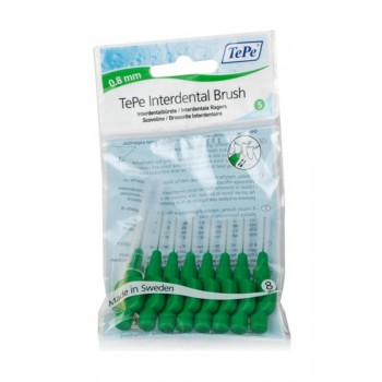 TePe Interdental Brush Μεσοδόντιο βουρτσάκι 5 μέγ. (0.8mm) Πράσινο 8τεμ.
