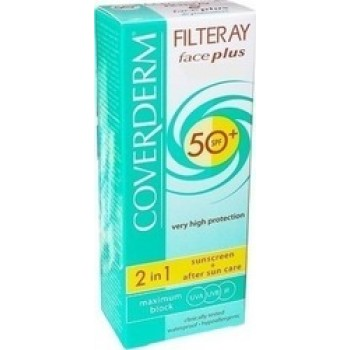 Coverderm Filteray Face Plus 2 in 1 Sunscreen & After Sun Care Normal Skin SPF50+ 50ml